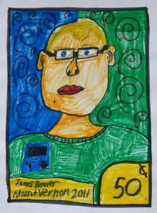 James' self portrait stamp 2011