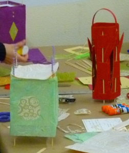 Paper Lantern workshop at the Family Art Day at MONA 2012