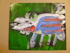 Acrylic painting at Cordata Elementary 2013