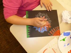 Acrylic painting at Cordata Elementary 2013
